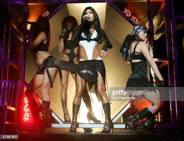 Nicole Kea lead singer of The Pussy Cat Dolls performs onstage at Madison Square Garden April 21 2006 in New York City