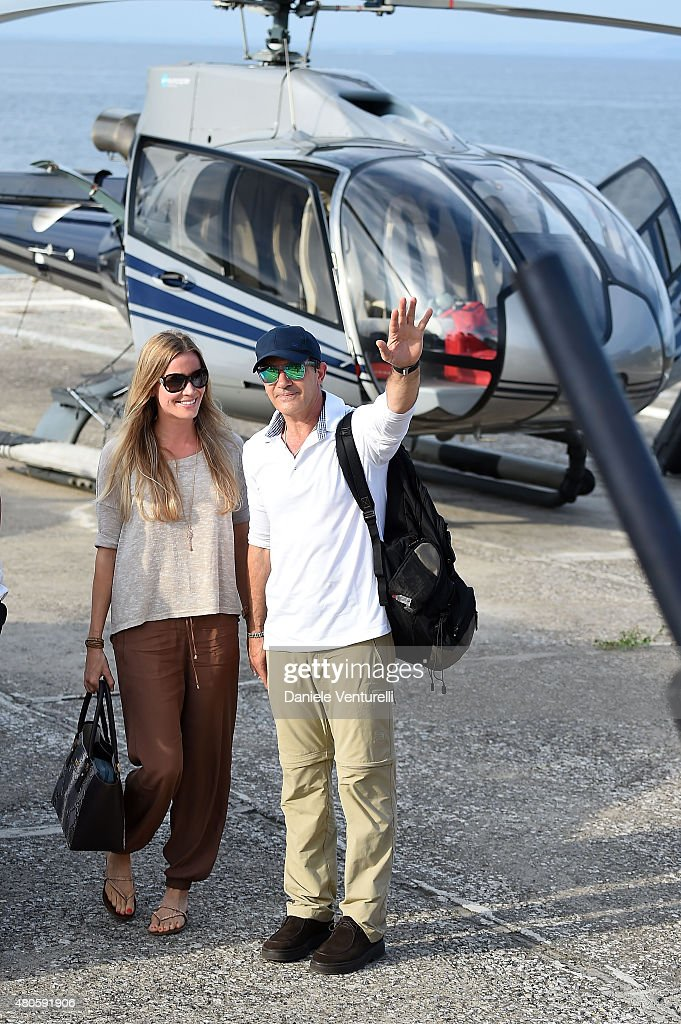 Nicole Kempel and Antonio Banderas arrive at 2015 Ischia Global Film & Music Fest Day 1 on July 13, 2015 in Ischia, Italy.
