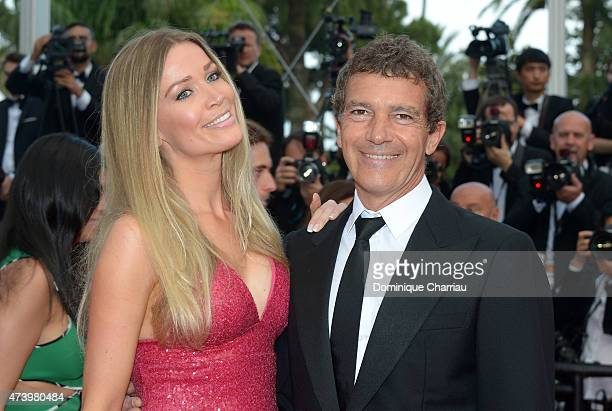 Nicole Kempel and Antonio Banderas attend the Premiere of 'Sicario' during the 68th annual Cannes Film Festival on May 19 2015 in Cannes France