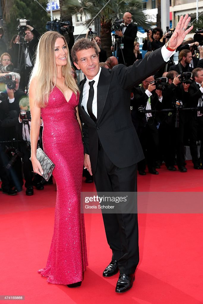 Nicole Kempel and her boyfriend Antonio Banderas attend the Premiere of 'Sicario' during the 68th annual Cannes Film Festival on May 19, 2015 in Cannes, France.