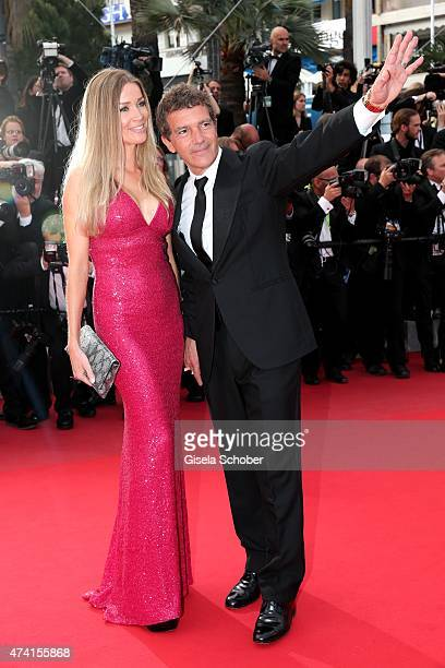 Nicole Kempel and her boyfriend Antonio Banderas attend the Premiere of Sicario during the 68th annual Cannes Film Festival on May 19 2015 in Cannes...