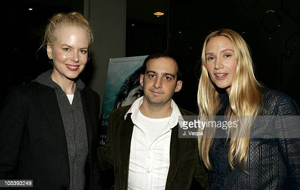Nicole Kidman Alejandro Amenabar and Kelly Lynch during The Sea Inside Special Los Angeles Screening at New Line Screening Room in Los Angeles...