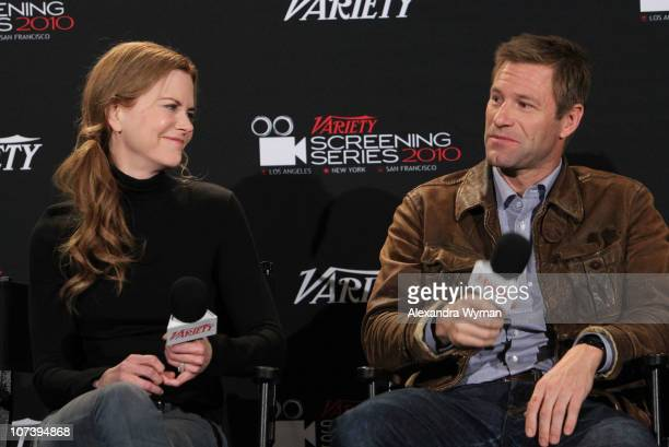 Nicole Kidman and Aaron Eckhart at Variety's Los Angeles Screening Series of Rabbit Hole held at The ArcLight Cinemas on December 7 2010 in Hollywood...