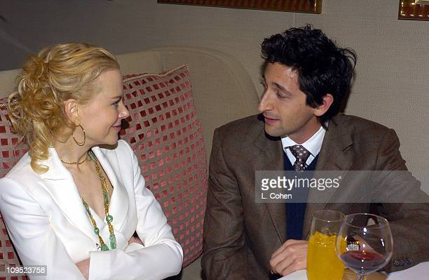 Nicole Kidman and Adrien Brody during Cold Mountain Premiere After Party at St Regis Hotel in Los Angeles Ca United States