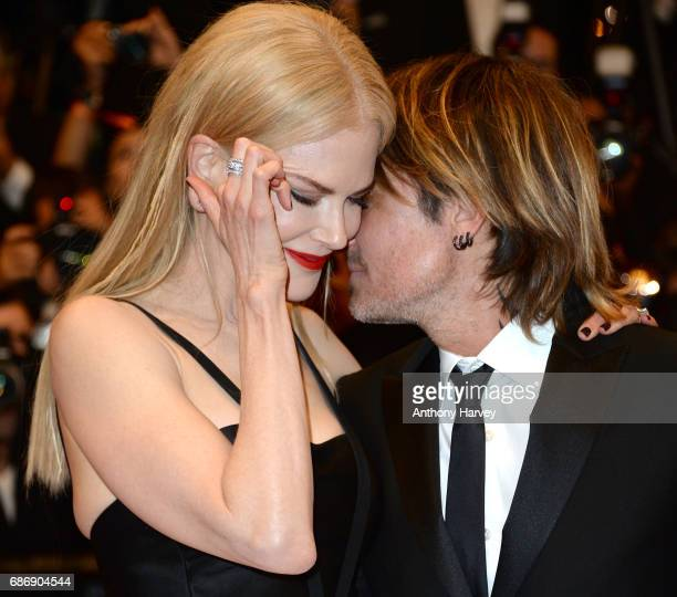 Nicole Kidman and and Keith Urban depart after depart after 'The Killing Of A Sacred Deer' screening during the 70th annual Cannes Film Festival at...