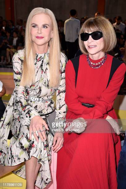 Nicole Kidman and Anna Wintour attend Prada Spring/Summer 2020 Womenswear Fashion Show on September 18 2019 in Milan Italy