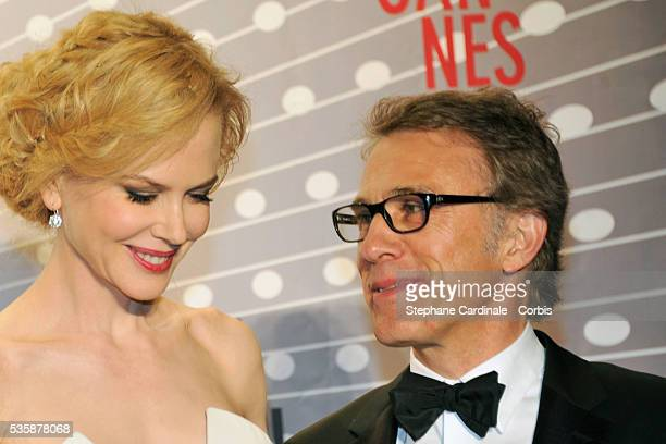 Nicole Kidman and Christoph Waltz attend the 'Palme D'Or Winners dinner' during the 66th Cannes International Film Festival