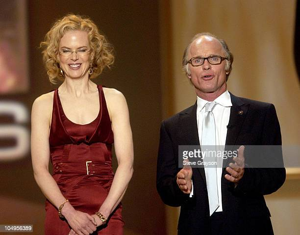 Nicole Kidman and Ed Harris during Ninth Annual Screen Actors Guild Awards Show at The Shrine Auditorium in Los Angeles California United States