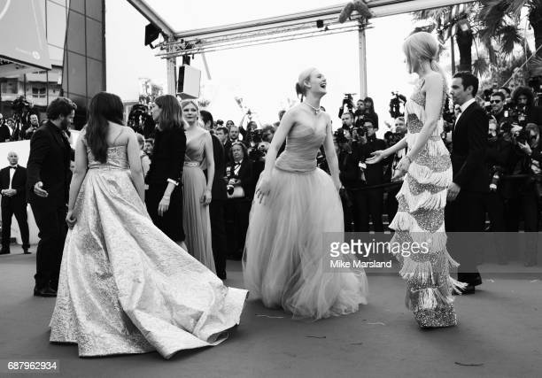 Nicole Kidman and Elle Fanning attend the 'The Beguiled' screening during the 70th annual Cannes Film Festival at Palais des Festivals on May 24 2017...