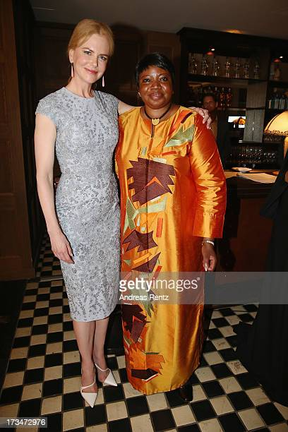 Nicole Kidman and Fatou Bensouda attend the Cinema for Peace UN women honorary dinner at Soho House on July 12 2013 in Berlin Germany