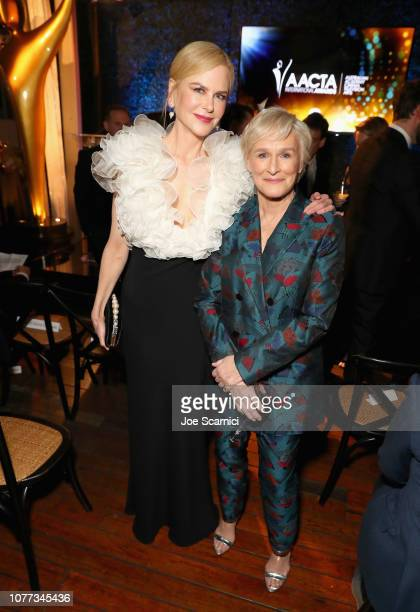 Nicole Kidman and Glenn Close attend the 8th AACTA International Awards Ceremony on January 4 2019 in Los Angeles California