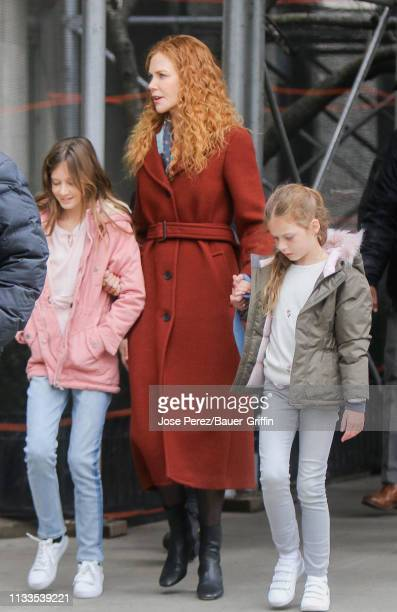 Nicole Kidman and her daughter Faith Margaret are seen on March 29 2019 in New York City