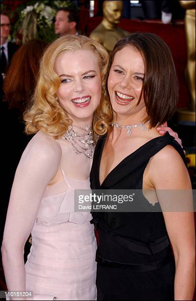 Nicole Kidman and her sister Antonia at the Seventy Fourth Annual Academy Awards in Los Angeles United States on March 24 2002 For the first time...