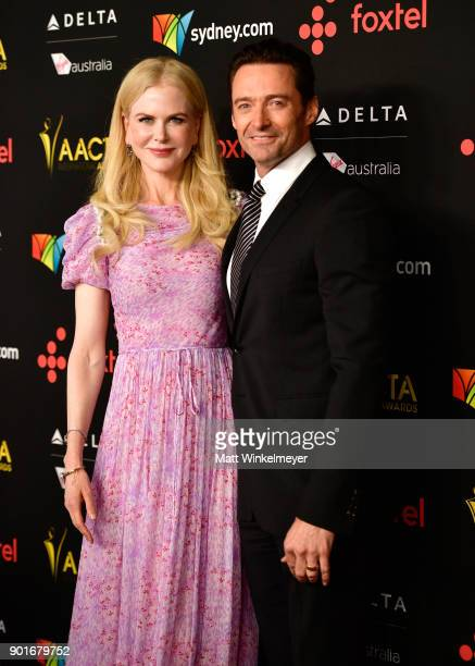 Nicole Kidman and Hugh Jackman attend the 7th AACTA International Awards at Avalon Hollywood in Los Angeles on January 5 2018 in Hollywood California