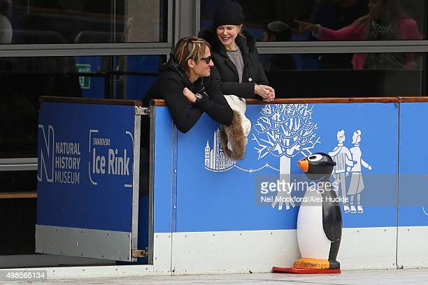 Nicole Kidman and husband Keith Urban are seen watching their children at The Natural History Museum Ice Rink on November 16 2015 in London England