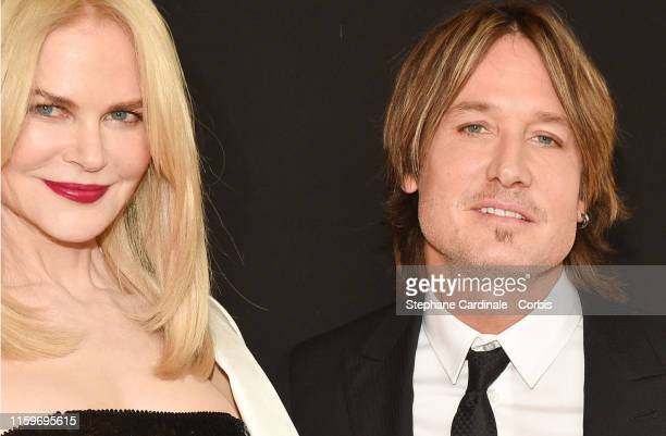 Nicole Kidman and husband Keith Urban attend the Giorgio Armani Prive Haute Couture Fall/Winter 2019 2020 show as part of Paris Fashion Week on July...