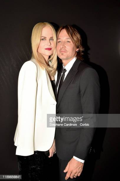 Nicole Kidman and husband Keith Urban pose backstage after the Giorgio Armani Prive Haute Couture Fall/Winter 2019 2020 show as part of Paris Fashion...