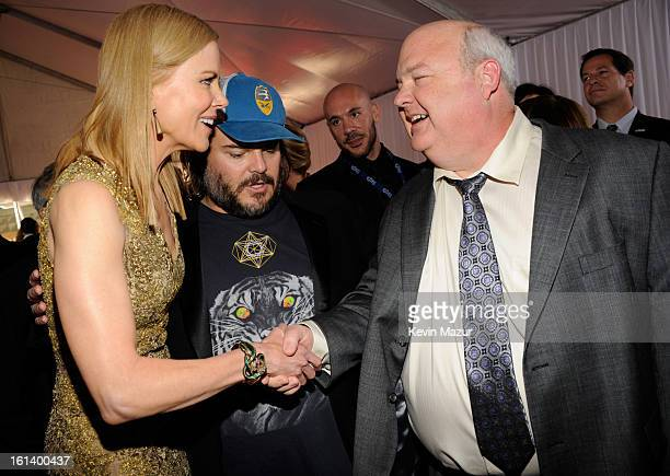 Nicole Kidman and Jack Black attend the 55th Annual GRAMMY Awards at STAPLES Center on February 10 2013 in Los Angeles California
