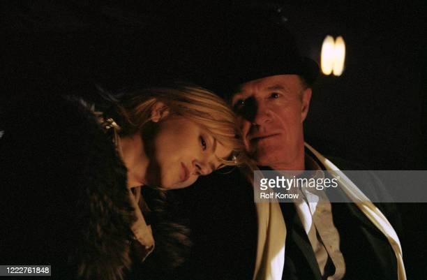 Nicole Kidman and James Caan on the set of Dogville directed by Lars von Trier Sweden 2002