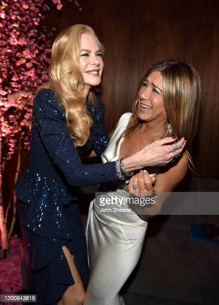 Nicole Kidman and Jennifer Aniston attend PEOPLE's Annual Screen Actors Guild Awards Gala at The Shrine Auditorium on January 19 2020 in Los Angeles...