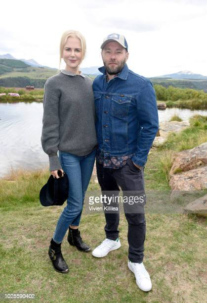 Nicole Kidman and Joel Edgerton attend the Telluride Film Festival 2018 on August 31 2018 in Telluride Colorado