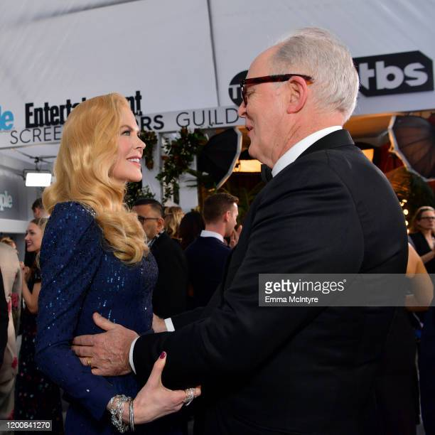 Nicole Kidman and John Lithgow attend the 26th Annual Screen Actors Guild Awards at The Shrine Auditorium on January 19 2020 in Los Angeles...