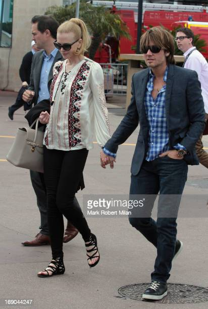 Nicole Kidman and Keith Urban are seen during the The 66th Annual Cannes Film Festival on May 19 2013 in Cannes France