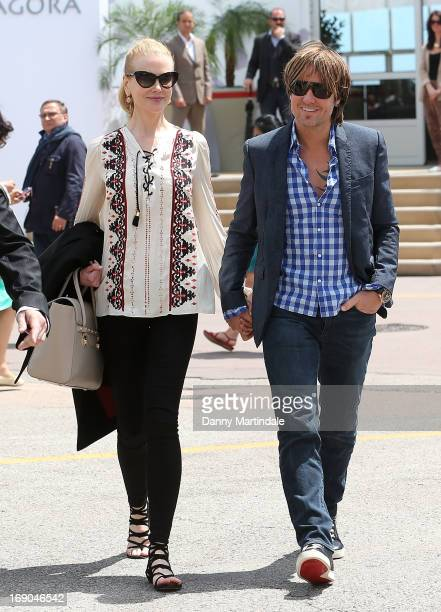 Nicole Kidman and Keith Urban are seen leaving the Electrolux restarant after having lunch on day 5 of the 66th Annual Cannes Film Festival on May 19...