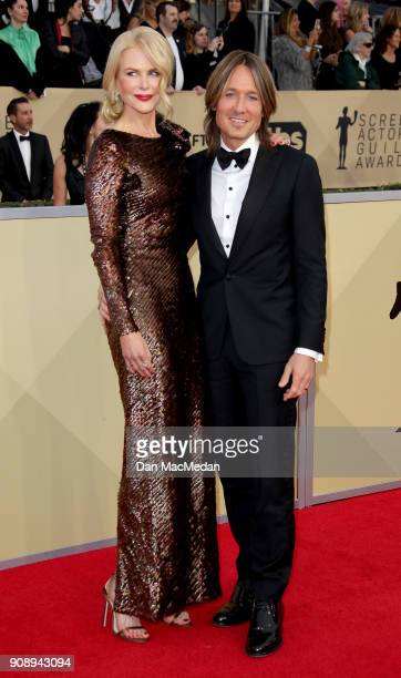 Nicole Kidman and Keith Urban arrive at the 24th Annual Screen Actors Guild Awards at The Shrine Auditorium on January 21 2018 in Los Angeles...