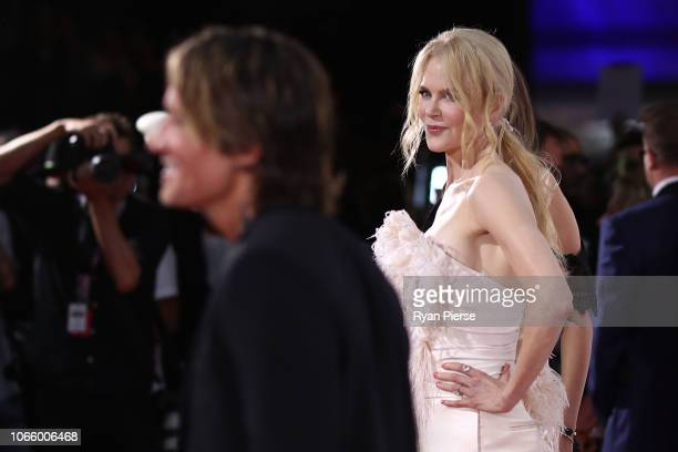 Nicole Kidman and Keith Urban arrive for the 32nd Annual ARIA Awards 2018 at The Star on November 28 2018 in Sydney Australia