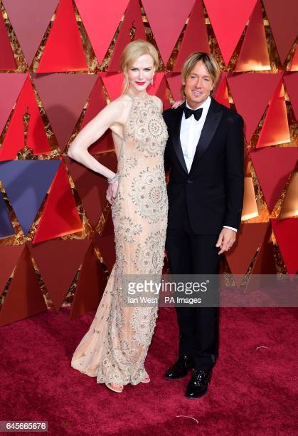 Nicole Kidman and Keith Urban arriving at the 89th Academy Awards held at the Dolby Theatre in Hollywood Los Angeles USA