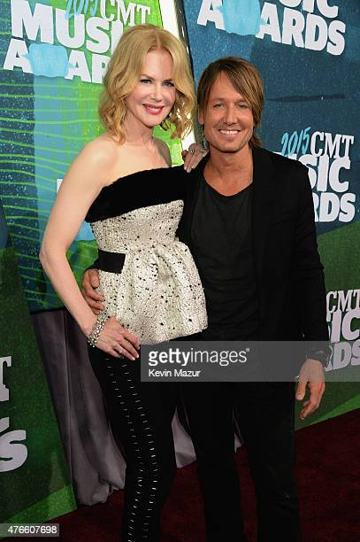 Nicole Kidman and Keith Urban attend the 2015 CMT Music awards at the Bridgestone Arena on June 10, 2015 in Nashville, Tennessee.