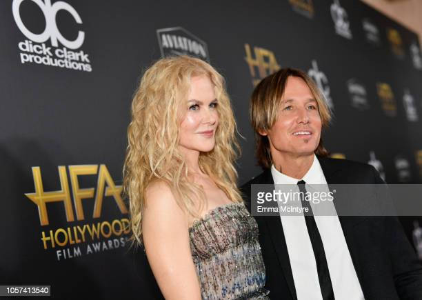 Nicole Kidman and Keith Urban attend the 22nd Annual Hollywood Film Awards at The Beverly Hilton Hotel on November 4 2018 in Beverly Hills California