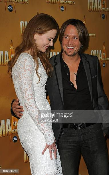 Nicole Kidman and Keith Urban attend the 44th Annual CMA Awards at the Bridgestone Arena on November 10 2010 in Nashville Tennessee