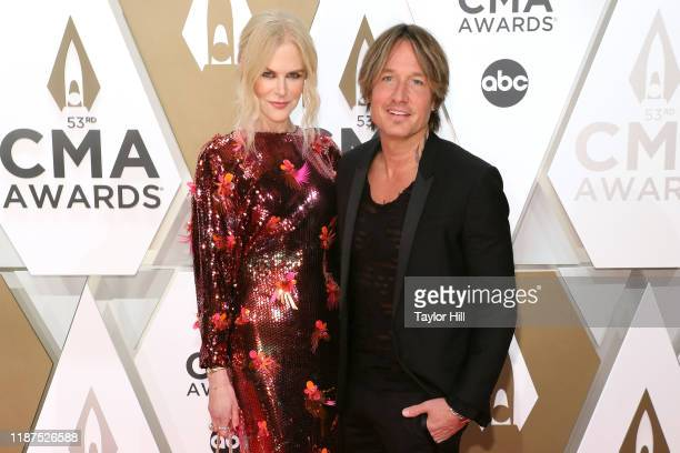 Nicole Kidman and Keith Urban attend the 53nd annual CMA Awards at Bridgestone Arena on November 13 2019 in Nashville Tennessee