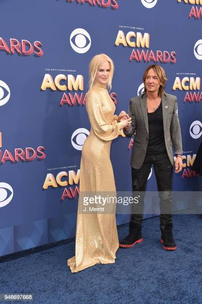 Nicole Kidman and Keith Urban attend the 53rd Academy of Country Music Awards at the MGM Grand Garden Arena on April 15 2018 in Las Vegas Nevada