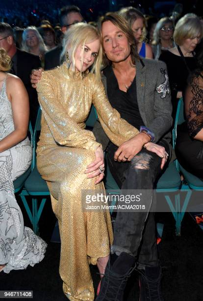 Nicole Kidman and Keith Urban attend the 53rd Academy of Country Music Awards at MGM Grand Garden Arena on April 15 2018 in Las Vegas Nevada