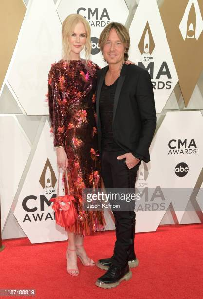 Nicole Kidman and Keith Urban attend the 53rd annual CMA Awards at the Music City Center on November 13 2019 in Nashville Tennessee