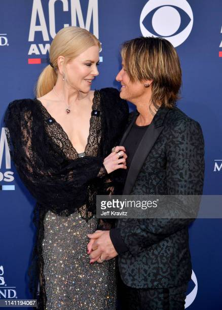 Nicole Kidman and Keith Urban attend the 54th Academy Of Country Music Awards at MGM Grand Hotel Casino on April 07 2019 in Las Vegas Nevada