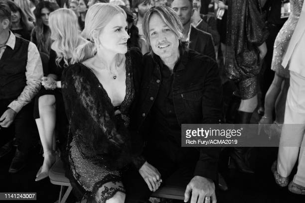 Nicole Kidman and Keith Urban attend the 54th Academy Of Country Music Awards at MGM Grand Garden Arena on April 07 2019 in Las Vegas Nevada