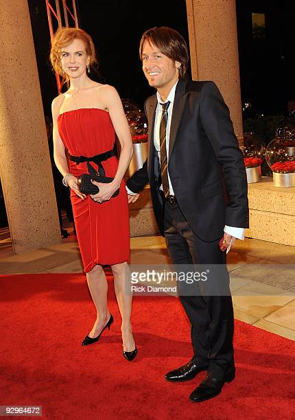 Nicole Kidman and Keith Urban attend the 57th Annual BMI Country Awards at BMI on November 10 2009 in Nashville Tennessee