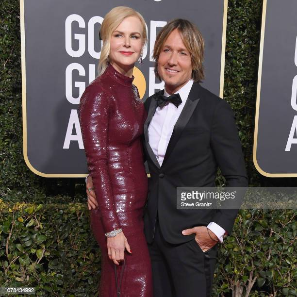 Nicole Kidman and Keith Urban attend the 76th Annual Golden Globe Awards at The Beverly Hilton Hotel on January 6 2019 in Beverly Hills California