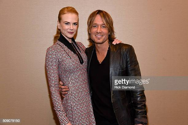 Nicole Kidman and Keith Urban attend the CRS 2016 at Omni Hotel on February 8, 2016 in Nashville, Tennessee.
