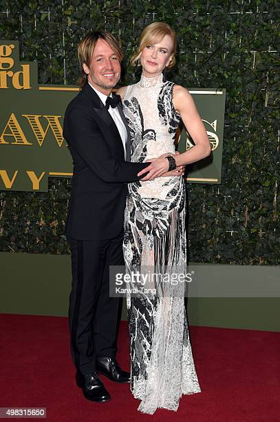 Nicole Kidman and Keith Urban attend the Evening Standard Theatre Awards at The Old Vic Theatre on November 22 2015 in London England