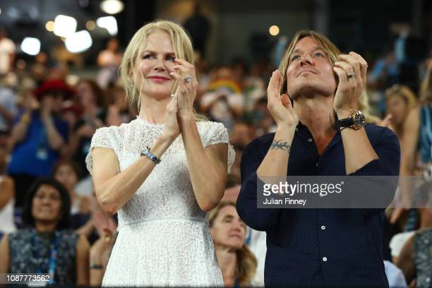 Nicole Kidman and Keith Urban attend the Women's Day Ceremony during day 11 of the 2019 Australian Open at Melbourne Park on January 24 2019 in...