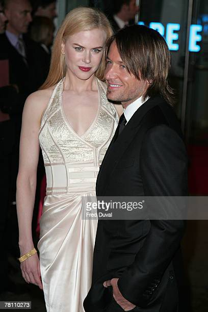 Nicole Kidman and Keith Urban attend the world premiere of The Golden Compass held at the Odeon Leicester Square on November 27 2007 in London England