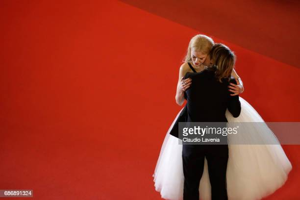 Nicole Kidman and Keith Urban depart after the 'The Killing Of A Sacred Deer' screening during the 70th annual Cannes Film Festival at Palais des...