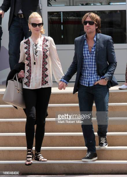 Nicole Kidman and Keith Urban leaving Agora restaurant during The 66th Annual Cannes Film Festival on May 19 2013 in Nice France
