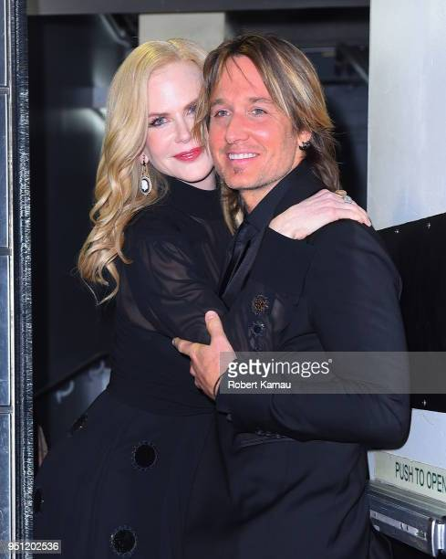 Nicole Kidman and Keith Urban seen out in Manhattan on April 24 2018 in New York City