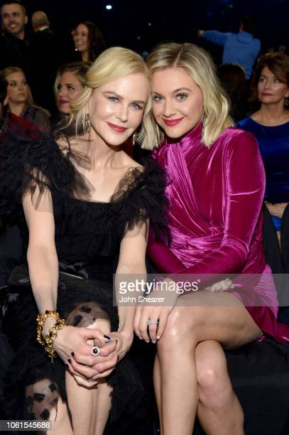 Nicole Kidman and Kelsea Ballerini attend the 52nd annual CMA Awards at the Bridgestone Arena on November 14 2018 in Nashville Tennessee